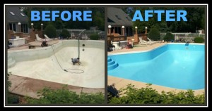 Another Restoration job done by Bella Pools and Spa!